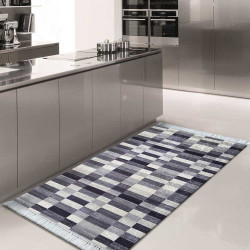 Dywan do kuchni do prania w pralce Blanka 01 - szara (N)