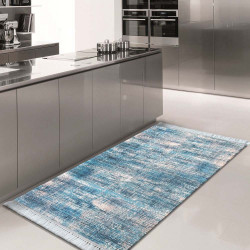 Dywan do kuchni do prania w pralce  Blanka 02 - niebieska (N)