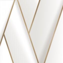 Tapeta biała geometryczny wzór 3D M34800