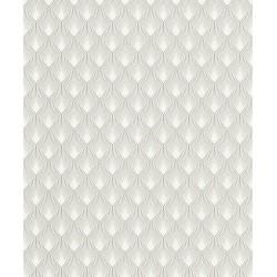 Tapeta szara geometryczna flizelina 433647